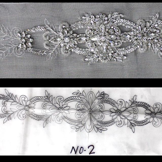 Wedding dress sash #2
